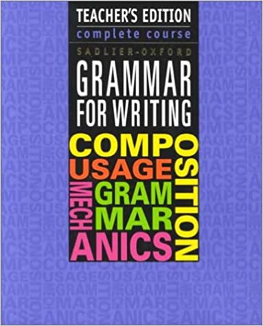 Grammar For Writing Complete Course By Sadlier