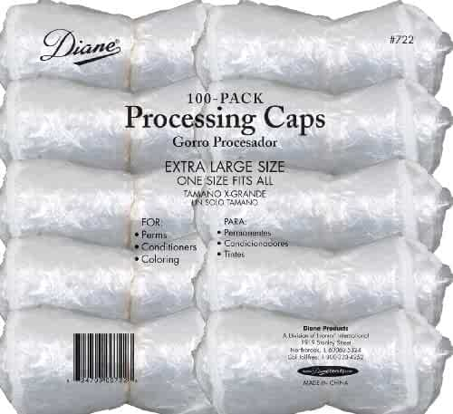 Diane D722 Color, Perm And Conditioner Processing Caps - 100-Pack - Clear