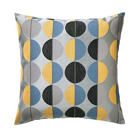 IKEA - Funda de cojín OTTIL, Gris, Multicolor - 50 x 50 cm ...