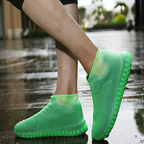 Small, Black Men//Women Covers for Shoes Waterproof Shoe Covers Home//Carpet//reusable//Outdoor//Walking//Boot -Reusable Non Slip Grip -Durable//Reusable LESOVI Shoe Covers Silicone Waterproof