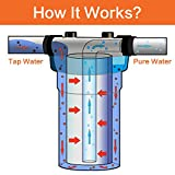 Geekpure 10 Inch Big Clear Water Filter Housing for
