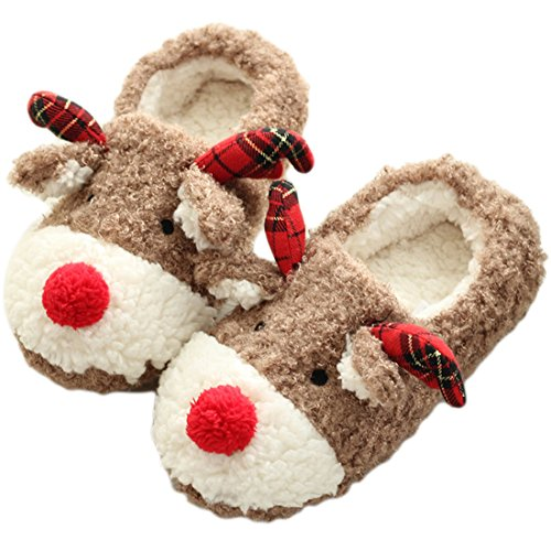 Where to find reindeer slippers with bells for women?