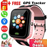 iGeeKid [SIM Card Included] Kids Smart Watch Phone GPS Tracker for Girls Boys Touch Screen Fitness...