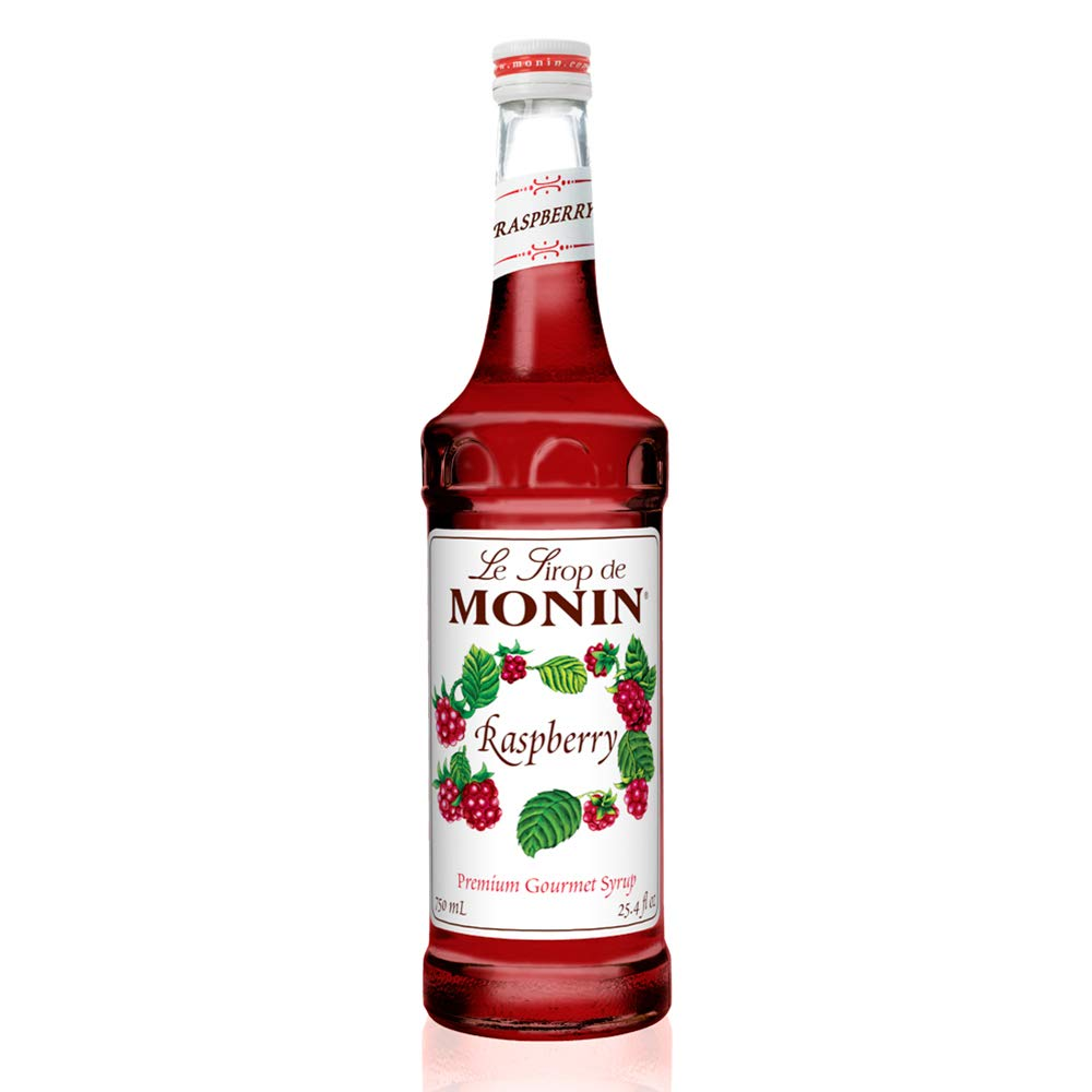 Monin - Raspberry Syrup, Sweet and Tart, Great for Cocktails and Lemonades, Gluten-Free, Non-GMO (750 ml)