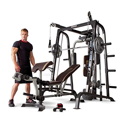 Marcy Diamond Elite Smith Cage Home Gym (MD9010G) by Marcy Weight Benches