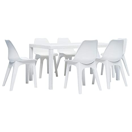Tidyard- Salon de Jardin 7 pièces avec 6 chaises, 6 chaises ...