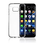 Guoer Galaxy S7 Case Transparent Crystal Clear Premium Protective Hard PC Back Flexible TPU Bumper for Samsung Galaxy S7