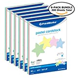 Printworks Pastel Cardstock, 67 lb, 4 Assorted Pastel Colors, SFI Certified, Perfect for School and Craft Projects, (6 pack bundle) 300 Sheets, 8.5'' x 11'' (00684C)