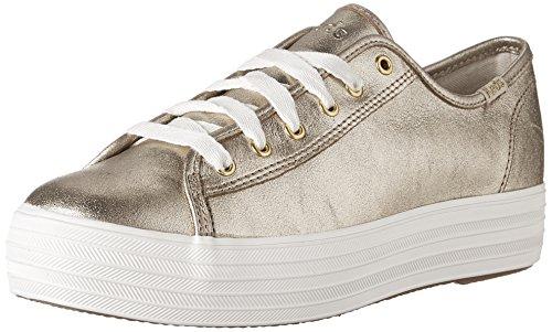 Keds TPL Kick Met. Suede Platinum, Sneaker Donna Oro (Gold 35)