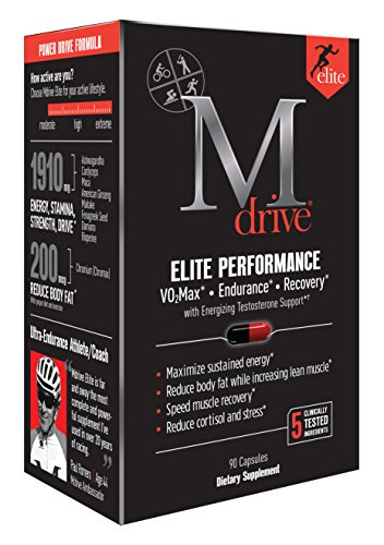 Mdrive Elite Energizing Testosterone Booster with Cordyceps,