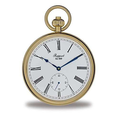 Oxford Open Face Pocket Watch with Sub-Seconds - Gold