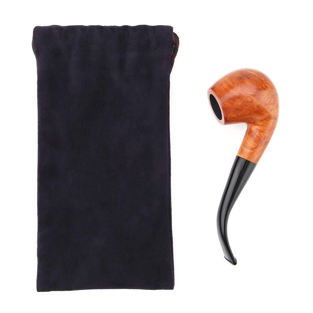 Akozon Bruyere Tuyau /À Tabac En Bois Portable Avec Filtre Comme Collection De Cadeaux Artisanaux #1