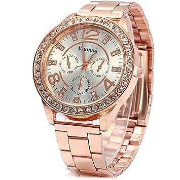 Relojes Hermosos, Unisex Reloj de Vestir Reloj de Moda Simulado Diamante Reloj Chino Cuarzo Brillante