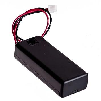 2 STÜCKE 3 V 2 AAA Batteriehalter Fall mit EIN AUS Kippschalter Box Pack   M0