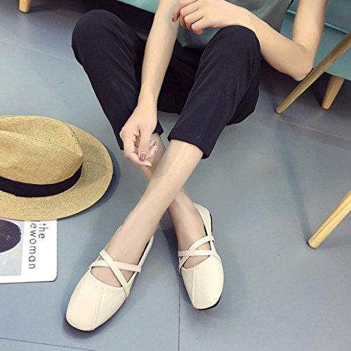 Amiley Vente Chaude Ballerine Femme Mocassins Décontractés Mocassin Confort Sandales Plates Slip-on Beige
