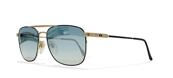 0b9c86ebdaf Image Unavailable. Image not available for. Color  Valentino V429 917 Gold  Black Vintage Sunglasses Square ...
