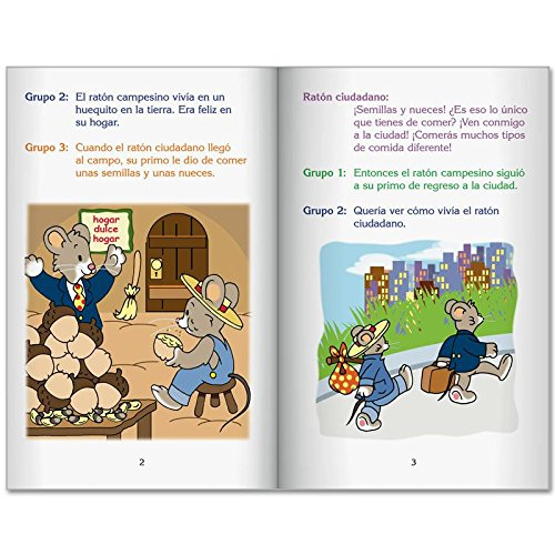 Really Good Readers' Theater: City Mouse, Country Mouse (Teatro Del Lector: Raton Ciudadano, Raton Campesino) - Set of 6