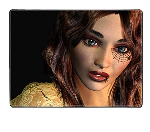 [Liili Placemat Natural Rubber Material 3d rendering of a young woman with a tattoo on the eye a Gothic as illustration Photo] (Spider Web Eye Makeup)