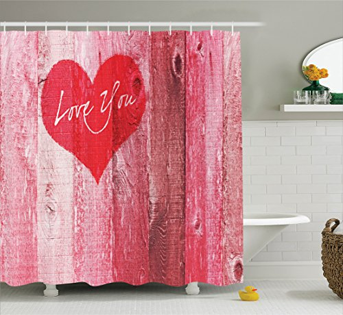 Ambesonne Love Decor Shower Curtain for Mothers Day, Show...