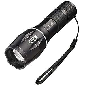 rockbirds led flashlights 5 modes water resistant handheld