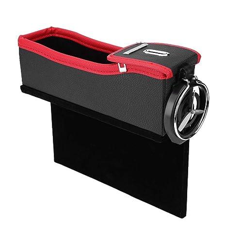 0e8b9f580 Silla de auto gap grieta cartera organizador diferente de almacenamiento  caja botella de bebidas titular Pocket bolsa de monedas (Asiento de  pasajero): ...