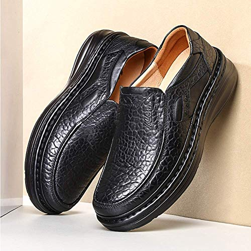 Hombres de 5 a para 9 Ocasionales Suela 8 Antideslizantes Hecha Cuero Marrón Hombre Zapatos la HhGold Negro los para Mano Hombres Zapatos de Color cómodos UK Zapatos US 5 tamaño de 5WYqnxR4