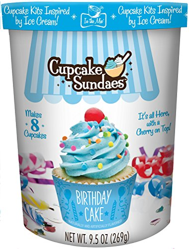 In the Mix Cupcake Sundaes Birthday Cake Cupcake Kit, 9.5 Ounce
