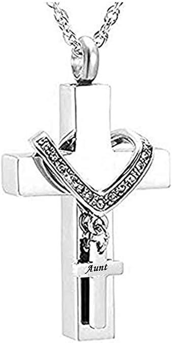 MEMORIALU Celtic Cross Bullet Urn Necklaces for Ashes Cremation Jewelry Keepsake Memorial Pendant