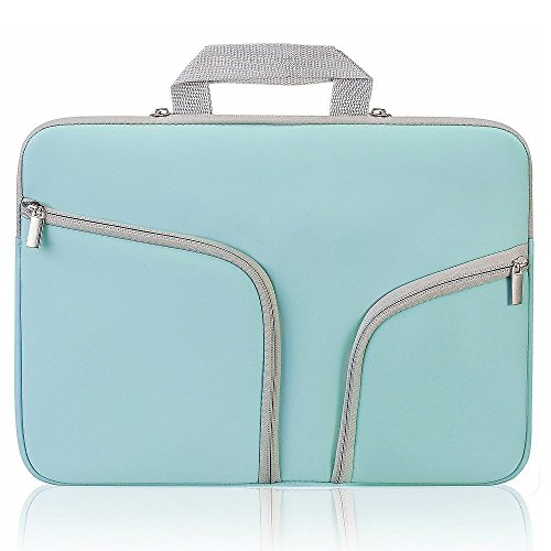 """Price comparison product image Macbook 12 inch Retina Travel Bag Sleeve Case w / Handle,  Umiko(TM) Laptop Sleeve Case Bag Pouch Neoprene Zipper Cover Waterproof for MacBook 12"""" with Retina Display - Teal"""
