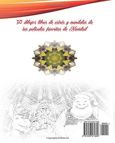 Películas de Navidad Libro de colorear Arte del estrés Dibujos ...
