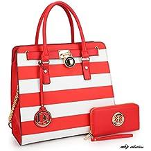 MKP Collection Fashion Handbag with Wallet~Tote/Satchel for woman~Top Handle Purse. Padlock Shoulder handbag.Holiday gift for woman. Designer purse (2553W)