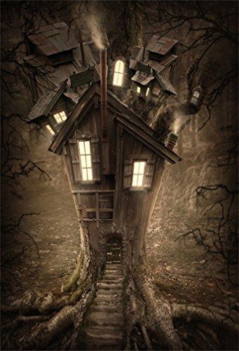 DaShan 3x5ft Photography Backdrop Dreamy Fairy Tale Landscape Old Tree Castle Spooky Costume Photo Background Backdrops Photography Photo Shoot Party Kids Personal Portrait Photo Studio Props]()