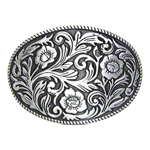 Engraved Silver Belt Buckle - 2