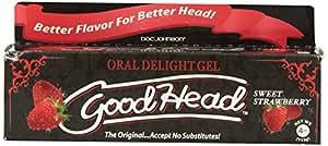 Doc Johnson Good Head Oral Delight Gel, Sweet Strawberry, (4 Ounces)