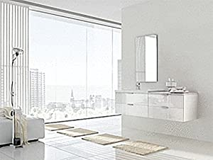 ARCOM Bathroom Furniture Set White Hochglanz