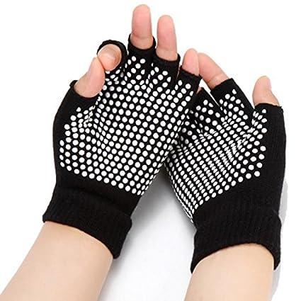 Amazon.com : Junson Elastic Breathable Yoga Gloves Cotton ...