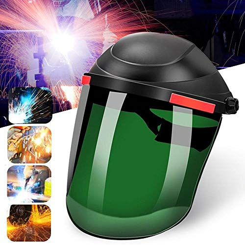 Umiwe Flip Front Welding Helmet, Professional Mig Tig Arc Weld Hood Welder Mask, Large Viewing Screen Safety Face Shield, Adjustable Protective Headgear for ARC TIG MIG Grinding