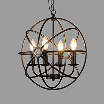 cage lighting pendants. baycheer hl422105 industrial vintage retro loft style wrought iron metal globe cage round pendant lamp fixture lighting pendants