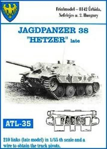 FRIULMODEL METAL TRACKS JAGDPANZER 38 HETZER EARLY Scala 1//35 Cod.ATL-15