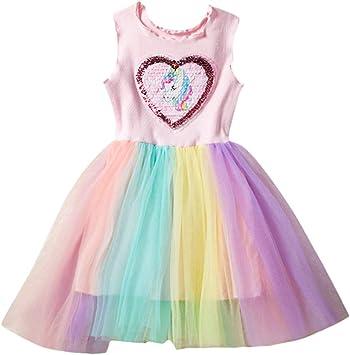 Vestido de tutú de unicornio, para niñas y bebés, sin mangas ...