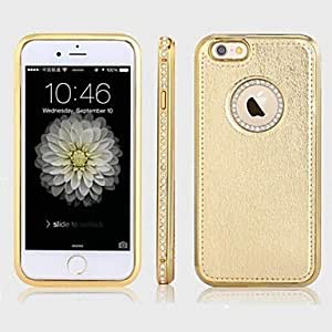 DD Diamond Metal With Leather Case for iPhone 6 Plus(Assorted Color) , 1#