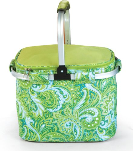 Picnic Collapsible Insulated Shopping Paisley