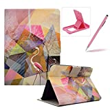 Wallet Folio Case for Amazon Kindle Fire HDX 7 inch,Bookstyle Flip Pu Leather Case for Amazon Kindle Fire HDX 7 inch,Herzzer Stylish Classic [Flamingo Marble Print] Stand Magnetic Smart Leather Case with Soft Inner for Amazon Kindle Fire HDX 7 inch