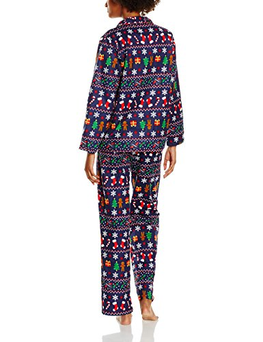 The Christmas Workshop Celebration Pyjama Set, Pijama para Mujer Azul (Navy)
