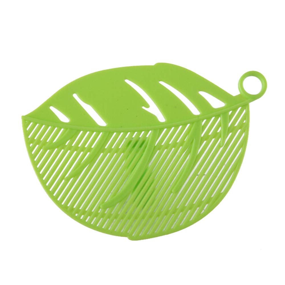 Yu2d  Durable Clean Leaf Shape Rice Wash Sieve Cleaning Gadget Kitchen Clips Green(Green)