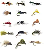 Fly Fishing Flies Assortment - Popular for Trout Fishing and Other Freshwater Fish - 30 Wet Flies - 15 Pattern