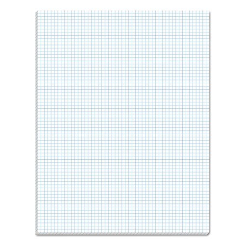 (TOPS Quadrille Pad, Gum-Top, 8-1/2 x 11 Inches, Quad Rule (6 x 6), White Paper, 50 Sheets per Pad)