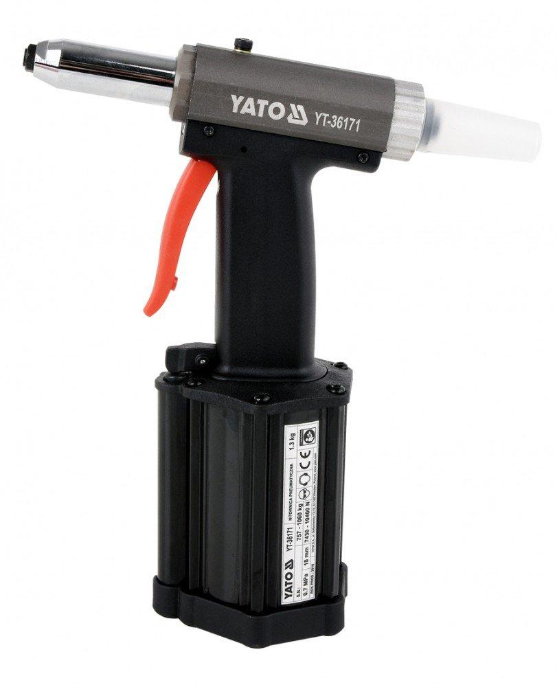 YATO Pneumatische Nietpistole Druckluft Nietgerät Nietzange 2,4-5 mm YT-36171