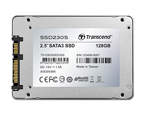 Transcend TS128GSSD230S Information 128GB 3D TLC SATA III 6GB/S 2.5'' Solid State Drive 230 2.5'' by Transcend (Image #1)