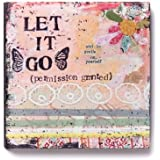 Demdaco Kelly Rae Roberts Let It Go Flower Wall Art, 6-Inch
